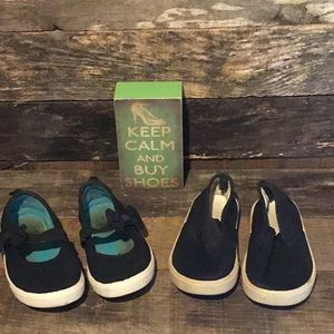 💛4/$10 2 pair FG Girls' Canvas  Slip On Shoes